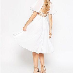 ASOS Lace Up Back Caftan Sleeve Midi Dress